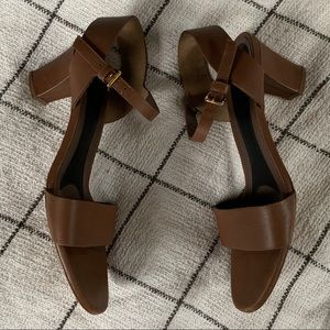 Marni brown leather heeled sandals - 9.5